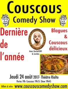 COUSCOUS COMEDY SHOW: Dernière de l'année- Couscous Party @ Théâtre Rialto | Montréal | Québec | Canada