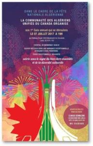 1er Gala annuel de la Communauté des Algériens Unifiés du Canada @ Le Château Royal Convention & Reception halls | Montréal | Québec | Canada