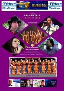 Fete Nationale Du Québec Avec La Kabylie @ parc lafontaine