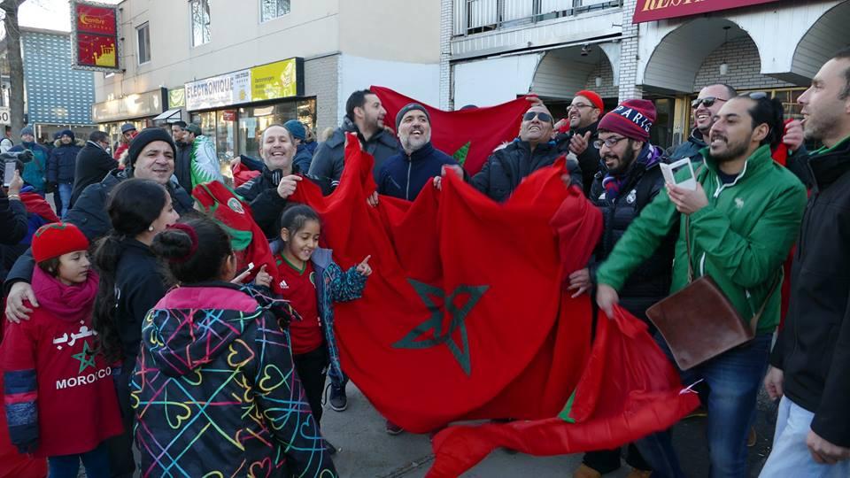 La f te au petit maghreb l occasion de la qualification du maroc la coupe du monde en russie - Maroc qualification coupe du monde ...